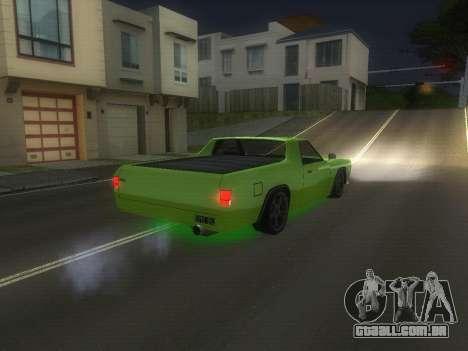 Drag Picador v1 para GTA San Andreas traseira esquerda vista
