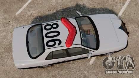 Nissan Skyline ER34 Police para GTA 4 vista direita