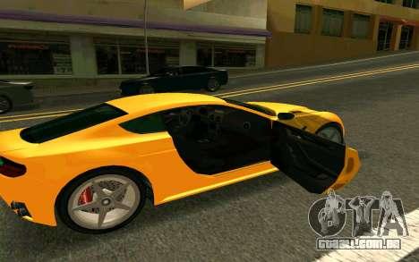GTA V Dewbauchee Rapid GT Coupe para GTA San Andreas vista direita