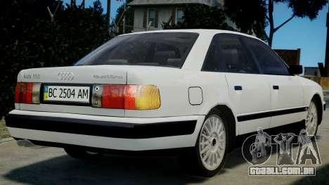 Audi 100 C4 1993 para GTA 4 esquerda vista
