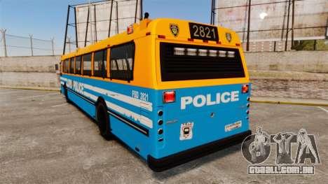 Brute Bus LCPD [ELS] v2.0 para GTA 4 traseira esquerda vista