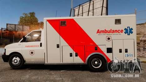 Brute Speedo RLMS Ambulance [ELS] para GTA 4 esquerda vista