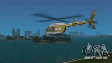 Helicóptero da polícia do GTA VCS para GTA Vice City vista direita