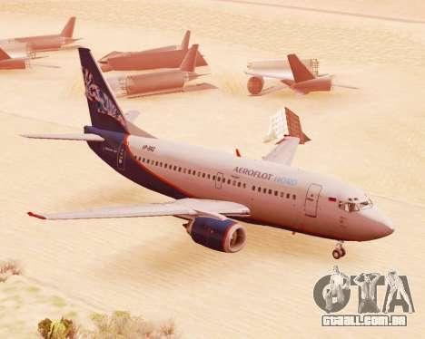 Boeing 737-500, a Aeroflot Nord para GTA San Andreas