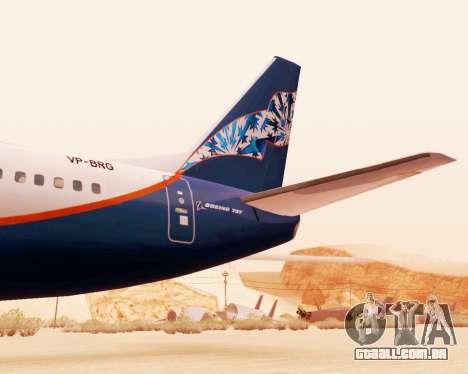 Boeing 737-500, a Aeroflot Nord para GTA San Andreas vista direita