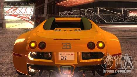 Bugatti Veyron 2009 para GTA San Andreas vista interior