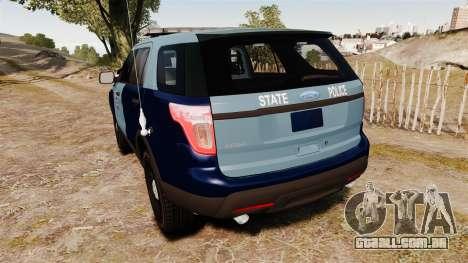 Ford Explorer 2013 MSP [ELS] para GTA 4 traseira esquerda vista
