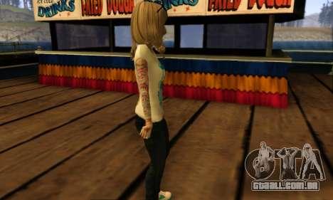 Catrina Skin para GTA San Andreas por diante tela