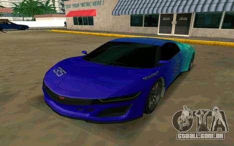GTA V Dinka Jester para GTA San Andreas esquerda vista