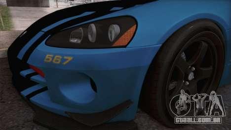 Dodge Viper SRT 10 ACR Police Car para GTA San Andreas vista direita