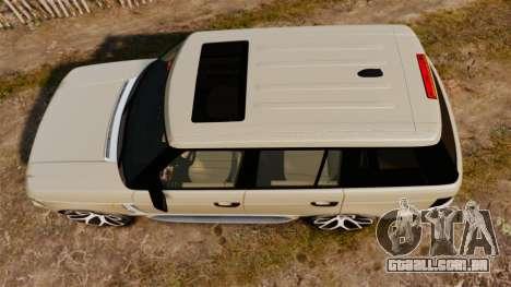 Range Rover Supercharger 2008 para GTA 4 vista direita