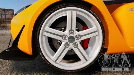 Aston Martin V12 Zagato para GTA 4 vista de volta