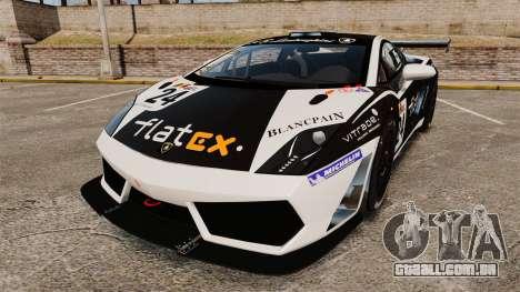 Lamborghini Gallardo LP560-4 GT3 2010 Flatex para GTA 4
