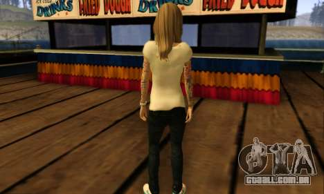 Catrina Skin para GTA San Andreas quinto tela