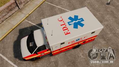 Brute Speedo FDLC Ambulance [ELS] para GTA 4 vista direita