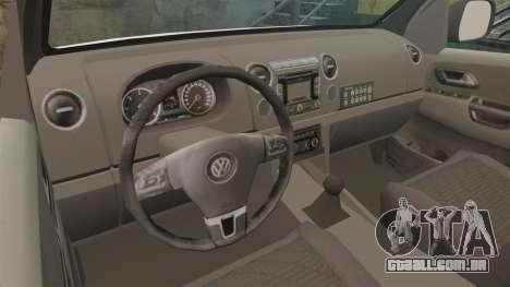 Volkswagen Amarok 2012 SAPS [ELS] para GTA 4 vista interior