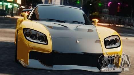 Mazda RX7 Veilside V8 para GTA 4 vista de volta