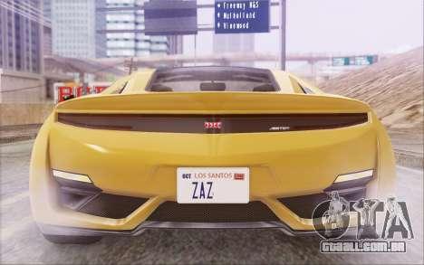 GTA V Dinka Jester IVF para GTA San Andreas vista interior