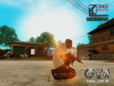 A metralhadora UZI para GTA San Andreas por diante tela