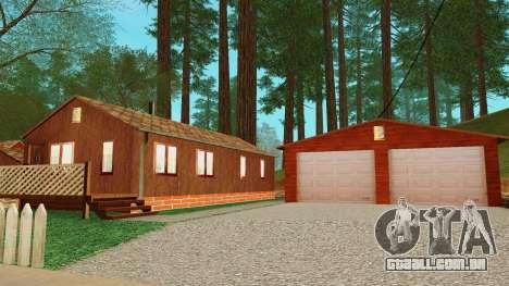 Uma casa na aldeia para GTA San Andreas quinto tela