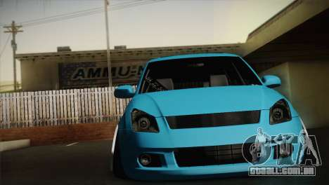 Suzuki Swift Hellaflush para GTA San Andreas esquerda vista