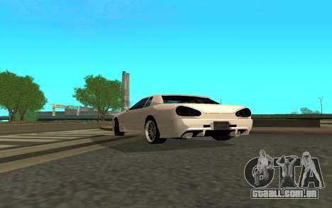 Elegy By Eweest v0.1 para GTA San Andreas traseira esquerda vista