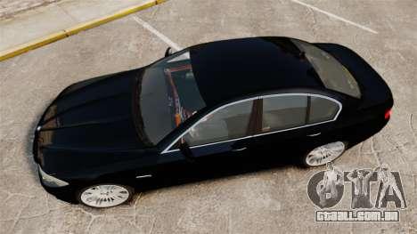 BMW M5 F10 2012 Unmarked Police [ELS] para GTA 4 vista direita