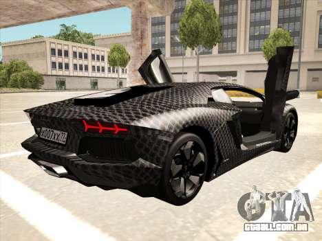 Lamborghini Aventador LP700-4 2013 para GTA San Andreas vista interior