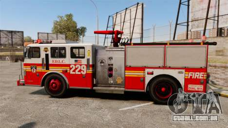 Fire Truck v1.4A FDLC [ELS] para GTA 4 esquerda vista