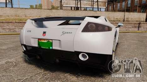 GTA Spano para GTA 4 traseira esquerda vista