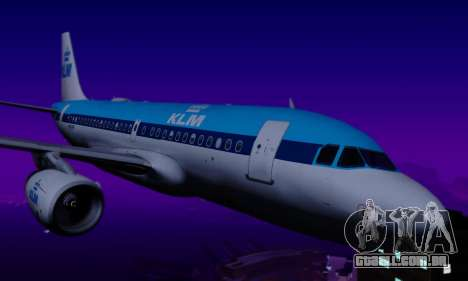 Airbus A319 KLM para GTA San Andreas vista traseira