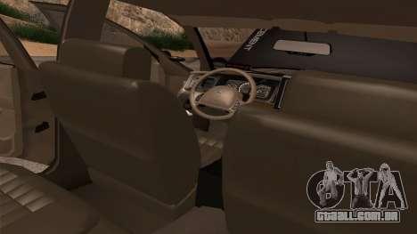Ford Crown Victoria Police Interceptor para GTA San Andreas vista inferior