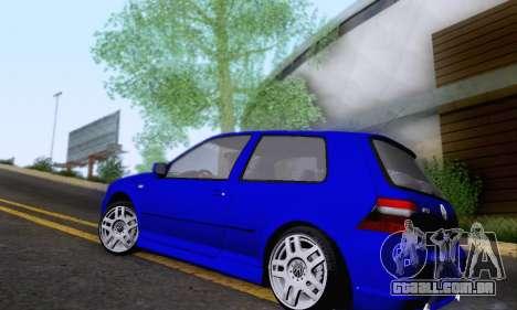 Volkswagen Golf R32 para GTA San Andreas traseira esquerda vista