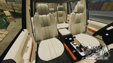 Range Rover Supercharger 2008 para GTA 4 vista lateral