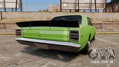 Dodge Dart 1968 para GTA 4 traseira esquerda vista