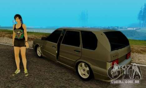 VAZ 2115 de Imóveis para GTA San Andreas vista traseira