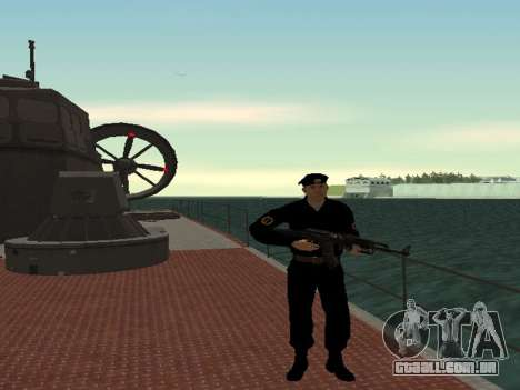 O Corpo de fuzileiros navais das forças armadas para GTA San Andreas segunda tela