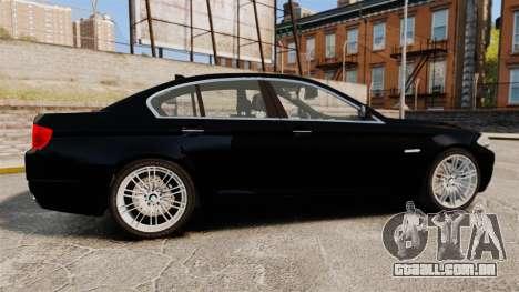 BMW M5 F10 2012 Unmarked Police [ELS] para GTA 4 esquerda vista