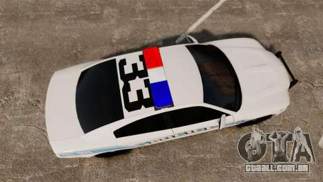 Dodge Charger 2013 Liberty Police [ELS] para GTA 4 vista direita