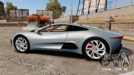 Jaguar C-X75 2014 [EPM] para GTA 4 esquerda vista