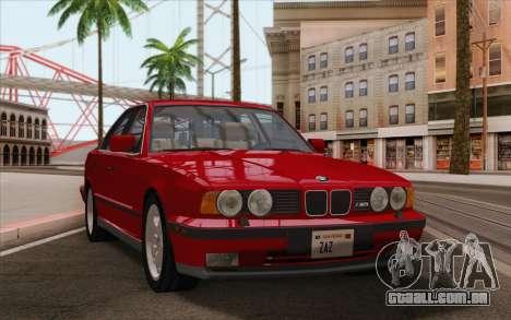 BMW M5 E34 1991 NA-spec para GTA San Andreas traseira esquerda vista