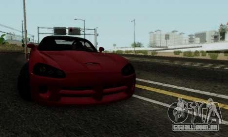 Dodge Viper SRT-10 para vista lateral GTA San Andreas