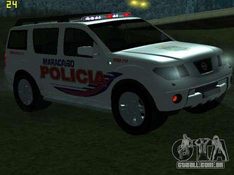 Nissan Pathfinder Polimaracaibo para GTA San Andreas vista inferior