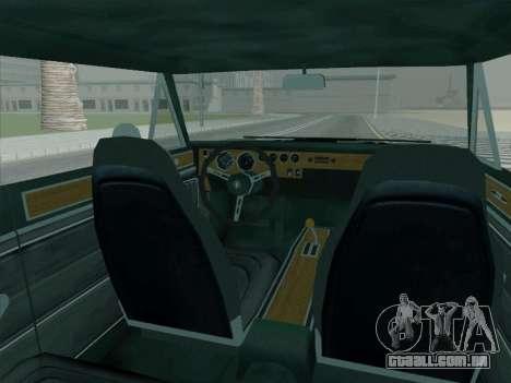 Plymouth Road RunneR GTX 1970 para GTA San Andreas vista traseira