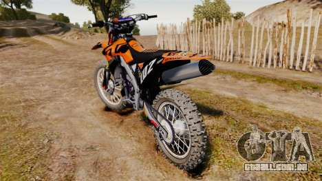 Kawasaki KX250F (KTM) para GTA 4 vista direita