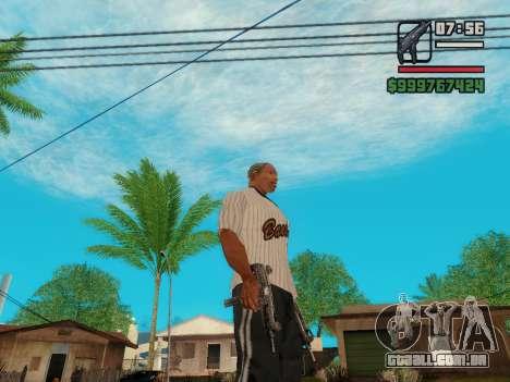 A metralhadora UZI para GTA San Andreas quinto tela