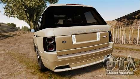 Range Rover Supercharger 2008 para GTA 4 traseira esquerda vista