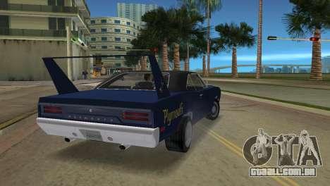 Plymouth Superbird para GTA Vice City deixou vista