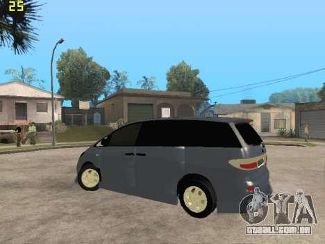 Toyota Estima Altemiss 2wd para vista lateral GTA San Andreas