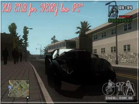 HD ENB for very low PC para GTA San Andreas por diante tela